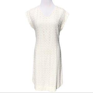 Kate Spade white eyelit dress